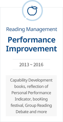 Performance Improvement 2013 ~ 2016 Capability development books, reflection of personal performance indicator, booKing festival, group reading debate and more