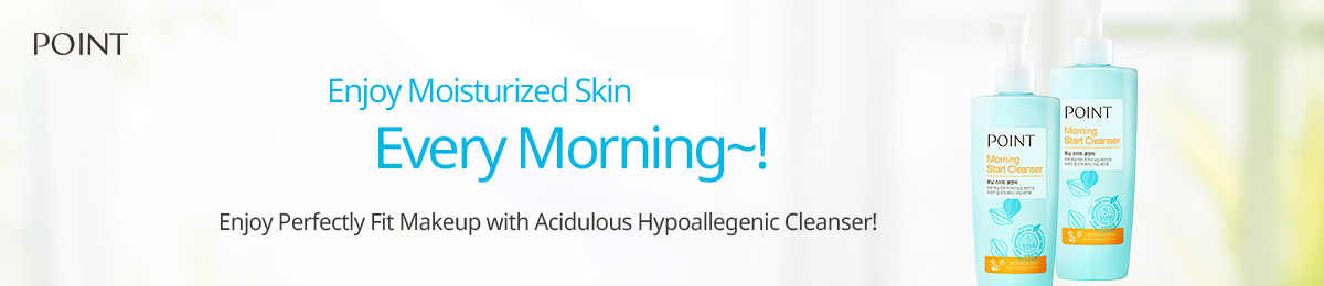 Enjoy moisturized skin every morning~! Enjoy perfectly fit makeup with acidulous hypoallegenic cleanser!